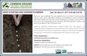 Winter Garden Workshops - Seed Starting & Garden Planning
