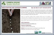 Winter Garden Workshops - Seed Starting & Garden Planning