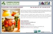 Winter Garden Workshops - Preserving Your Garden  Harvest!