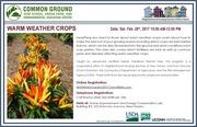 Winter Garden Workshops - Warm Weather Crops!