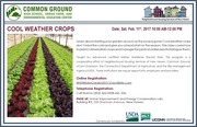 Winter Garden Workshops - Cool Weather Crops!
