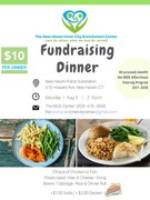 After School Tutoring program fund raiser dinner sale