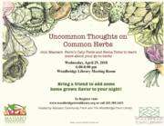 Uncommon Thoughts on Common Herbs