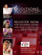 Arts in CT's all call auditions for tots theater, children theater, teens theater and adults!