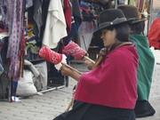 Salasaca Women Making String