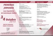 Primeiras jornadas luso-espanholas de contratação pública