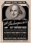 Will Shakespeare's 451st Birthday Bash