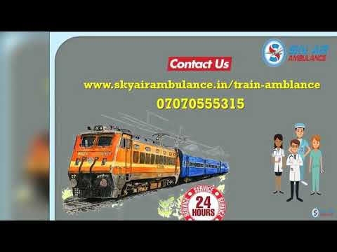 Pick Use Matchless Train Ambulance Service in Delhi with Healthcare Support