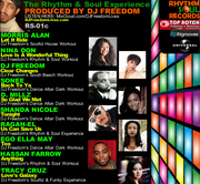 DJ Freedom photos of his LP, schedule, radio show and single release
