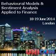 Behavioural Models & Sentiment Analysis Applied to Finance Conference: London