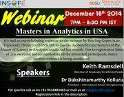 WEBINAR - Masters in Analytics - Prospects & Benefits.