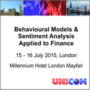 5th Annual Conference: Behavioural Models & Sentiment Analysis Applied to Finance