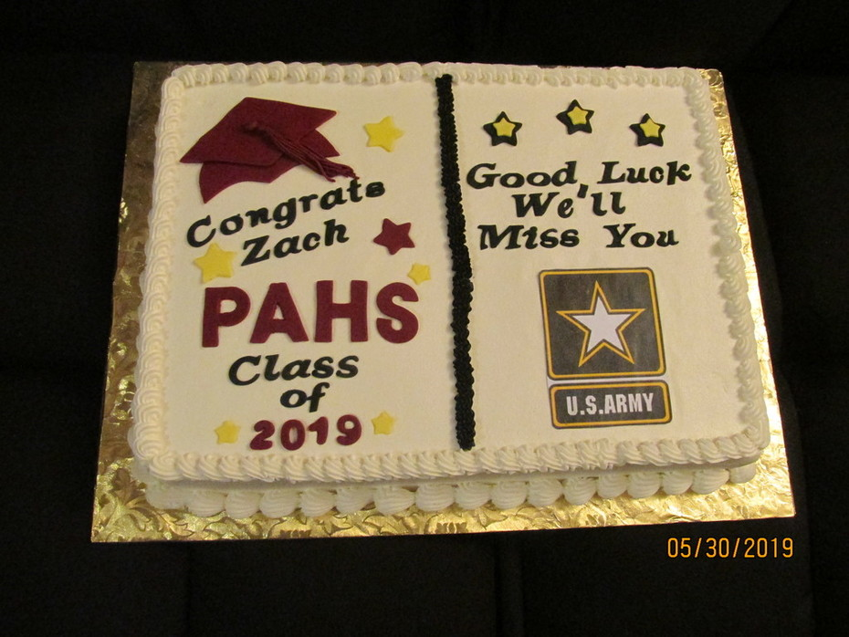 Graduation Cake For a graduate entering the Army!