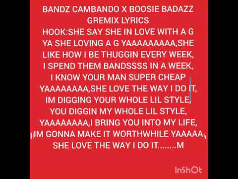 BOOSIE BADAZZ X BANDZ CAMBANDO (G REMIX)LYRICS