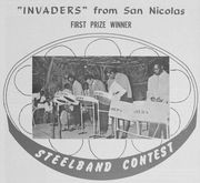 Aruba's Invaders Steelband -win-1968 steelband contest