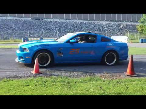 Checking Out Cool Cars With Pam  A Mustang,Fusion,TBird and Focus Dance Around the Cones  Autocross