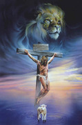 crucifixion lion and lamb graphic