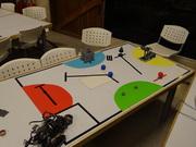 Armando la pista para la 2º competencia de robótica virtual