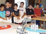 mas de 400 chicos visitaron la pista de robótica virtual