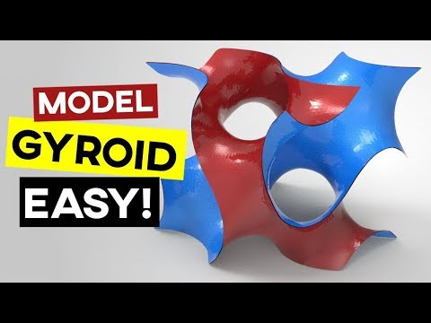Gyroid Minimal Surface (Grasshopper Tutorial)