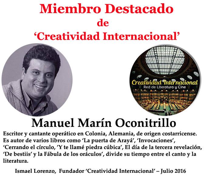 Miembro destacado Manuel Marín Oconitrillo