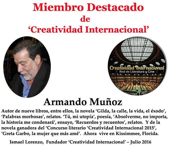 Miembro destacado Armando Muñoz