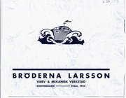 Br.Larssons Kristinehamn 35-års Jubileumsbok 1939