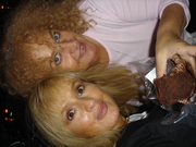 Cheril & Tonya eating a brownie in Amsterdam.... hmmmm...