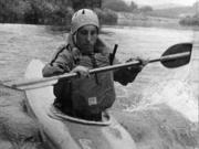 Tom on White Water Canoe Training