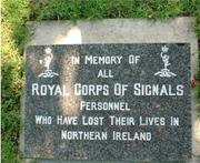 Royal Signals In Memory stone