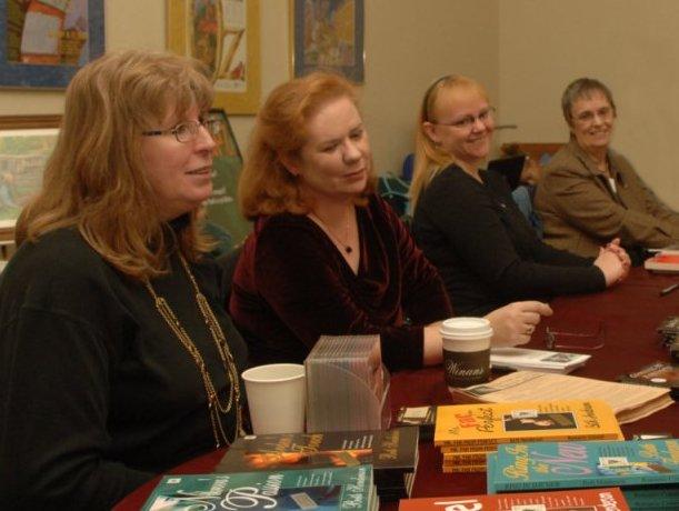 Book signing 2008 Beth, Marla, Rebekah and Nioma