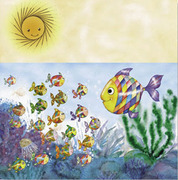 Page 2 from book the colored Fish