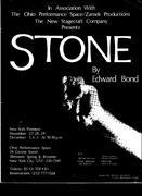 My Directing debut w Edward Bond's STONE.