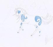 Blå häst