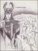 Loki and goats