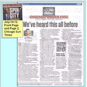 """""""We've Heard this all before"""" Chicago SunTimes7-10-12"""