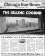 Front Page, Chicago SunTimes, October 1992
