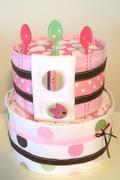 Cute as a buttone Girls Cake Two-tier