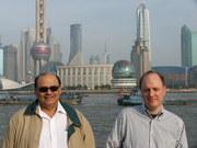 Riaz Haq at the Bund in Shanghai