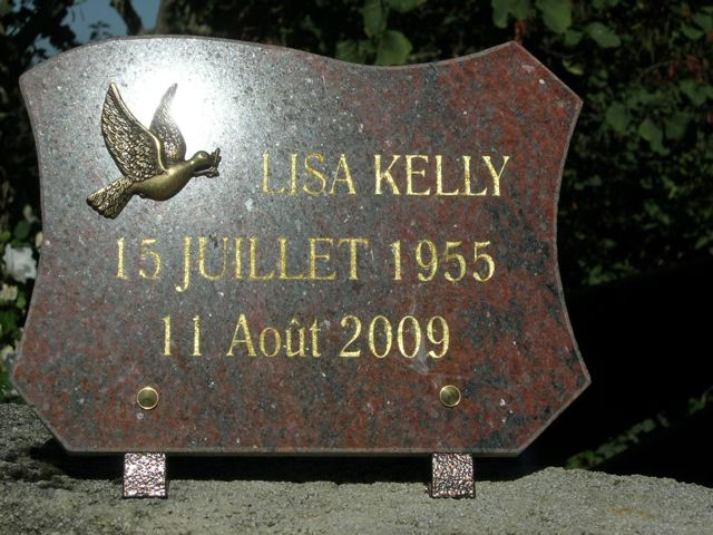 Lisa's plaque