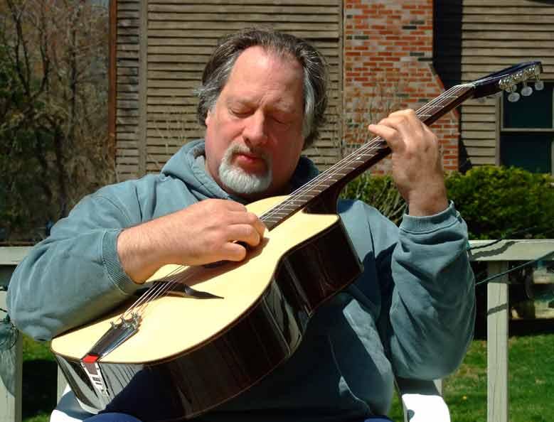 Bill and his new Django guitar