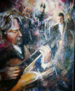 Bill Barnes Trio, by Colette Nolcox, Acrylic on Canvas