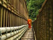 Footbridge over Nham Kham river
