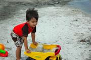 Jacob enjoying the beach
