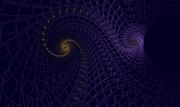 gold spiral in indigo