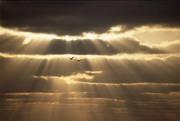 clouds and light shining thru