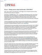 Missing Answers Press Release