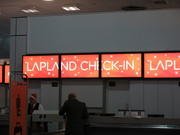 Our very special Check-in desk at Gatwick (all staff had santa hats!)