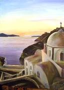 OIA,SANTORINI ISLAND SUSET. GREEECE,2011( 35x45cm)