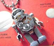 Vintage Robot Necklace